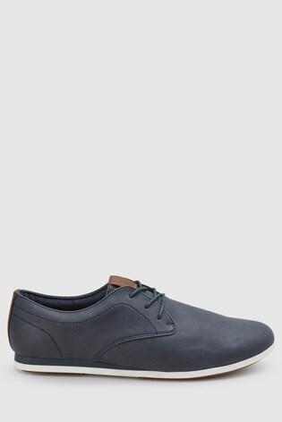 5b9e173ccf5b Tmavomodrá Derby topánky s klinovým podpätkom ...