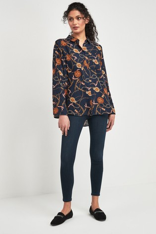 c64af405040663 Buy F F Black Chain Print Shirt from the Next UK online shop