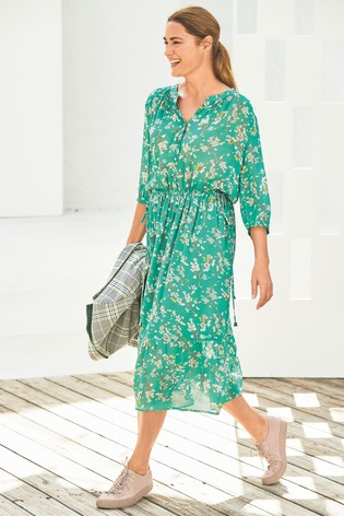 14f8fdfffa Buy Green Floral Printed Dress from the Next UK online shop