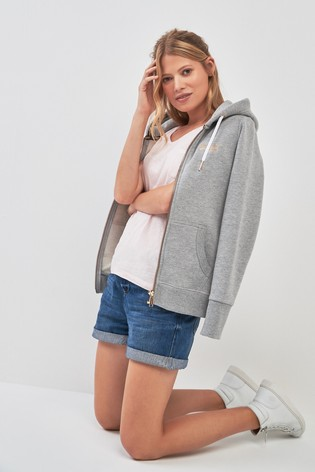 8e1ad449adb16 Buy Superdry Grey Lux Zip Hoody from the Next UK online shop