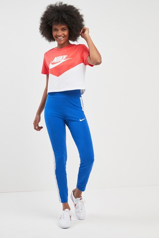 459058b32 Buy Nike Heritage Colourblock Cropped Tee from Next Malta