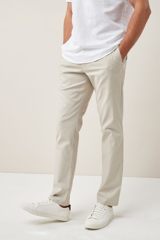 960ed758cf1 Buy Stone Slim Fit Stretch Linen Blend Trousers from the Next UK ...