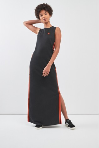 9c2b3b248421 Buy adidas Originals Black Orange Long Dress from the Next UK online ...