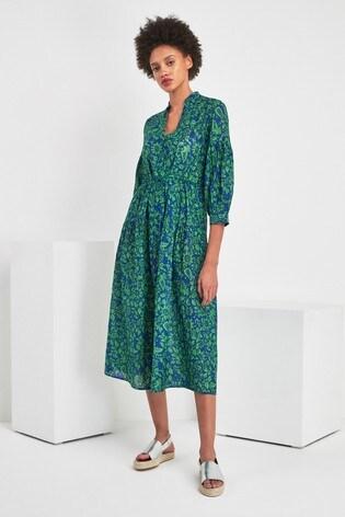 1bb9edef03be Buy Whistles Green Valeria Henna Print Shirt Dress from Next Ireland