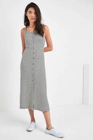 585218305ae2fd Buy Superdry Mono Stripe Charlotte Button Down Midi Dress from Next ...
