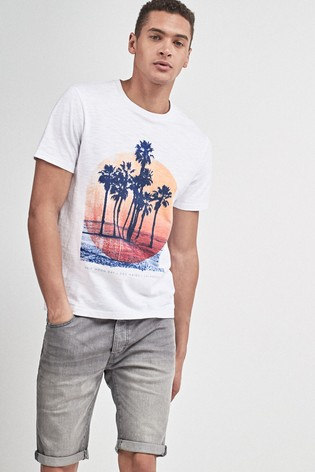 1c703b94 Buy White Palm Graphic T-Shirt from the Next UK online shop