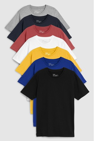 5bc5a1ec0 Buy Multi Mixed Colour T-Shirts Seven Pack from the Next UK online shop