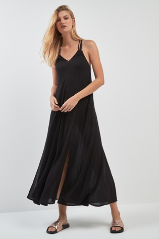 fbda2585a Buy Superdry Black Macrame Maxi Dress from the Next UK online shop