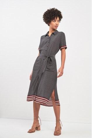 6469262ae72 Buy Whistles Foulard Stripe Montana Shirt Dress from the Next UK ...