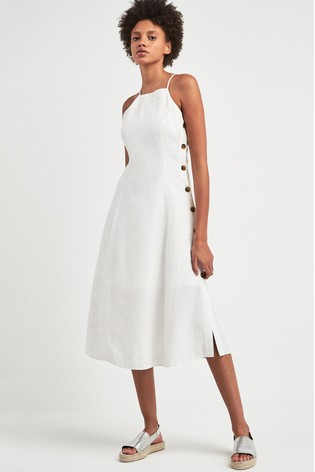 5fd05f0e9b Buy Whistles White Nina Linen Button Apron Dress from the Next UK ...