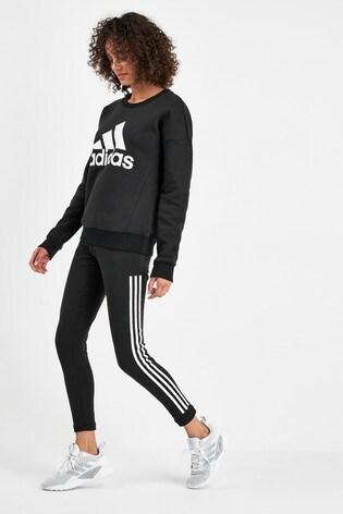 adidas Must Have Black 3 Stripe Leggings