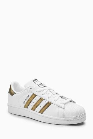 Trainers WhiteGold adidas adidas Superstar WhiteGold Originals Superstar Trainers Originals my8n0vNwO