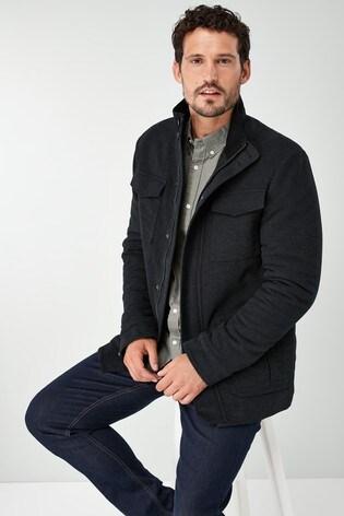 Moleskin UK zu Black NEXT Signature Coat XL Details Mens Italian Size Jacket 5cA34RjLq