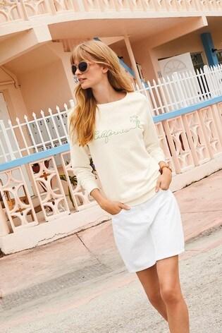082f5a26ed White Denim Skirt