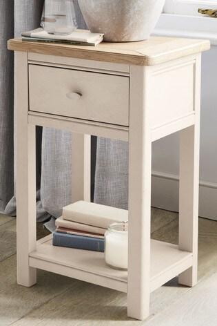 detailed look 01097 f7d32 Hampton Slim 1 Drawer Bedside Table