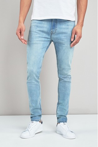 9c488db7dc Buy Light Blue Super Skinny Fit Jeans With Stretch from Next Cyprus