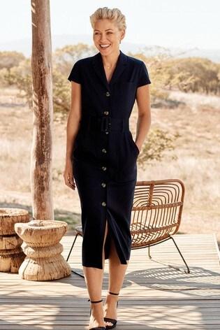 89cbc4fec05 Buy Navy Emma Willis Belted Shirt Dress from the Next UK online shop