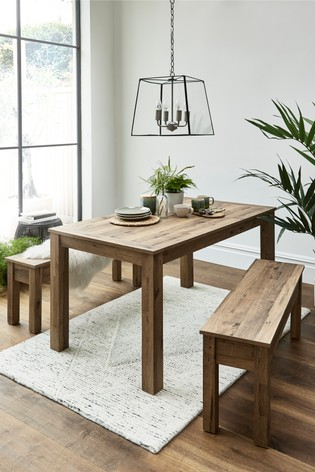 Awe Inspiring Bronx Dining Table And Bench Set Machost Co Dining Chair Design Ideas Machostcouk