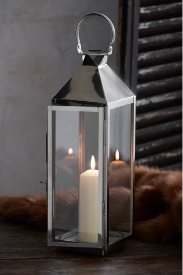 Large Chrome Lantern From The Next Uk, Outdoor Candle Lanterns Uk