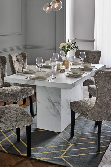Buy Marble Effect Pedestal Dining Table From The Next Uk Online Shop