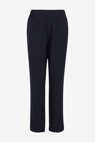 Navy Maternity Relaxed Tailored Trousers
