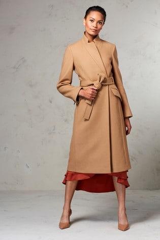 enjoy complimentary shipping super cheap cheap Karen Millen Camel Wrap Coat