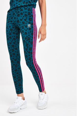 blue adidas leggings 3 stripes