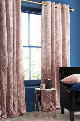 Buy Crushed Velvet Eyelet Lined Curtains From The Next Uk Online Shop