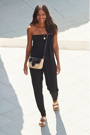 89126e9d5f Buy Black Ric Rac Layer Jumpsuit from the Next UK online shop
