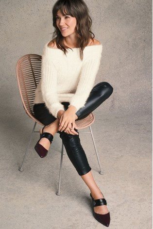 1e1e914cd7a2c4 Buy Black Faux Leather Leggings from Next Qatar