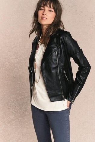 c268c6d42 Buy Black PU Biker Jacket from the Next UK online shop
