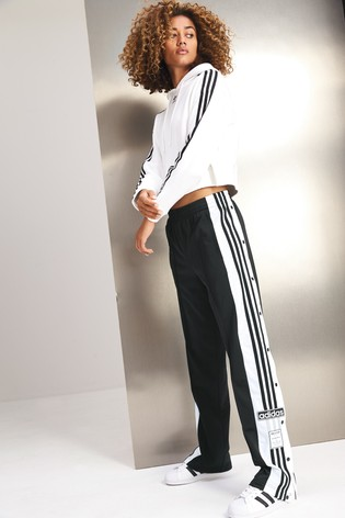 9fddcaccc3fd adidas Originals Kurzes Kapuzensweatshirt mit drei Streifen, weiß ...