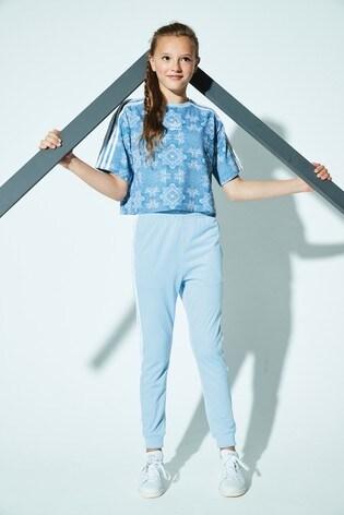 0ea56d0e5902 Buy adidas Originals Printed Blue Trefoil Crop Top from the Next UK ...