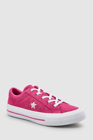 Buy Converse Youth Pink Youth One Star Trainer from Next Gibraltar 3f3841ae598a