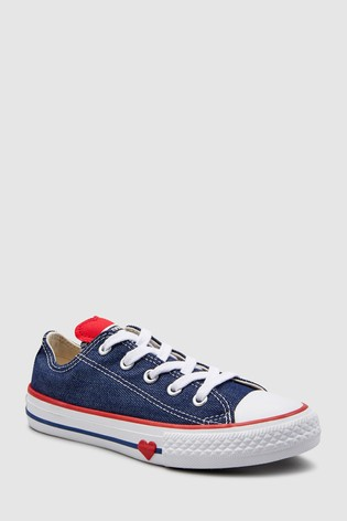 Buy Converse Youth Heart Chuck Taylor All Star Ox from Next Ireland 349fd53e31
