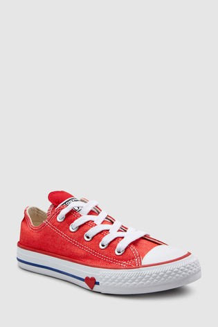 e3d0d57b617a Buy Converse Youth Heart Chuck Taylor All Star Ox from the Next UK ...