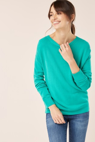 80c97ce289ed Buy Green Cosy Boat Neck Jumper from the Next UK online shop