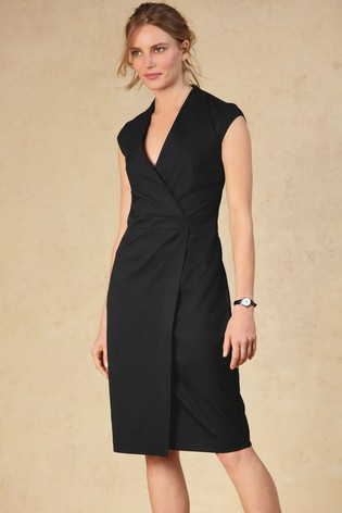 big collection 50% price professional website Black Tailored Fit Suit: Wrap Detail Dress