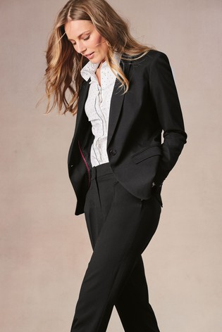 f470e9a2c276 Buy Black Single Breasted Tailored Fit Jacket from the Next UK ...