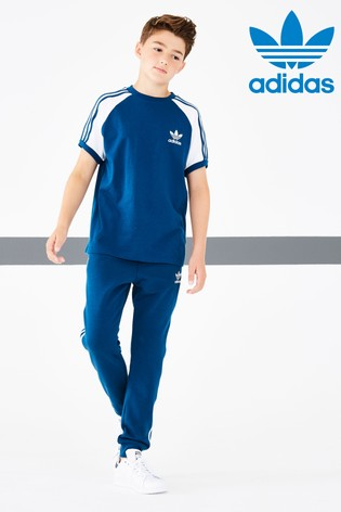 wholesale dealer 314be 12ab0 Navy adidas Originals 3 Stripe Jogger ...