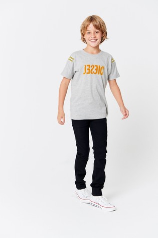 finest selection 44a94 da952 Buy Diesel® Kids Grey Tryll Logo T-Shirt from the Next UK ...
