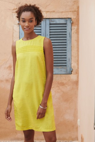 cdec1f2caa Buy Citrus Linen Blend Shift Dress from the Next UK online shop