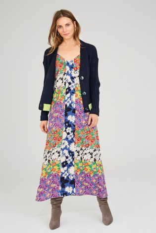150e49aedd7 Buy Bright Floral Print Mix Dress from the Next UK online shop
