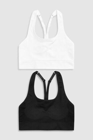 Noir blanc - Lot de deux soutiens-gorge sans coutures et sans armatures  pour ... 34cc59f4625