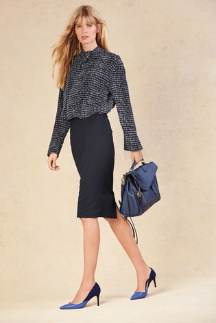 1cb95f92efafa Buy Navy Tailored Fit Pencil Skirt from the Next UK online shop