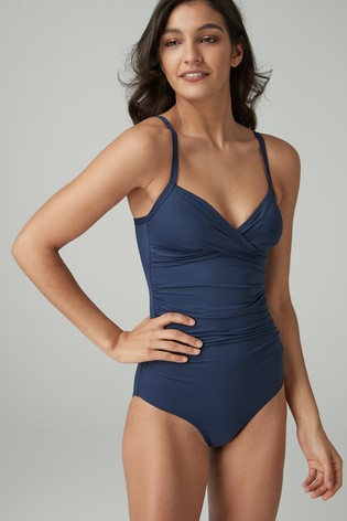 1554ecfb741c3 Buy Navy Shape Enhancing Swimsuit from the Next UK online shop
