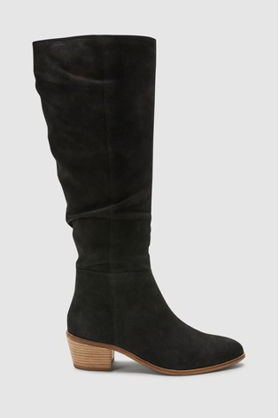 e88aa500288b Buy Black Forever Comfort® Knee High Slouch Boots from the Next UK ...