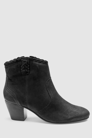 Buy Black Leather Western Ankle Boots from the Next UK online shop fbe1a3808