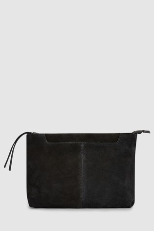 9bdd44f31b8 Buy Black Suede Clutch Bag from the Next UK online shop