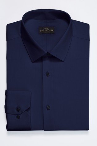 e9cc4e0f98 Buy Navy Slim Fit Single Cuff Signature Textured Shirt from Next Turkey